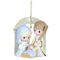 "Precious Moments Nativityオーナメント"" Unto Us A Child Is Born """