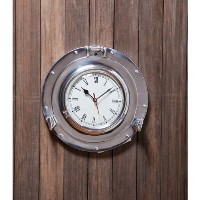 Waterside Retreat Metal Porthole Wall Clock [並行輸入品]