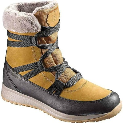 サロモン レディース シューズ・靴 ブーツ【Salomon Heika Leather CS WP Boot】Camel Gold Ltr / Black / Vintage Kaki
