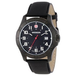 Men's Wenger 70474 Alpine PVD - coated Watch with Leather Band/ウェンガー/腕時計/メンズ/並行輸入品