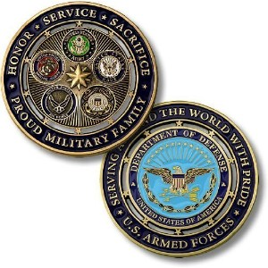 Proud MilitaryファミリChallenge Coin。。。