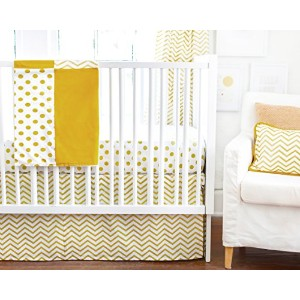 New Arrivals 2 Piece Crib Bed Set, Gold Rush by New Arrivals