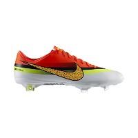 Nike Mercurial Vapor IX CR FG Soccer Cleats (White/Total Crimson/Volt)/サッカースパイク マーキュリアル ヴェイパー IX CR...