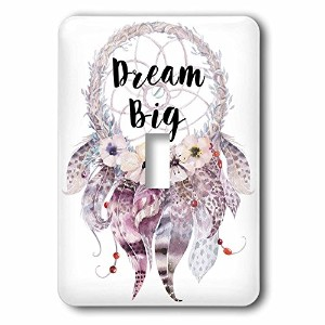 3drose LSP _ 252934_ 1Big in a水彩Feathered Dream Catcher Single切り替えスイッチ