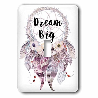 3drose LSP 252934_ 1Big in a水彩Feathered Dream Catcher Single切り替えスイッチ