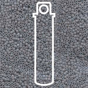 Opaque Gray Dyed (Db652) Delica Myiuki 11/0 Seed Bead 7.2 Gram Tube Approx 1400 Beads by Delica 11...