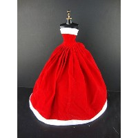 バービー 着せ替え用ドレス/服 R12 (Traditional Santa Dress in Red with White Trim Part of the Limited Edition...
