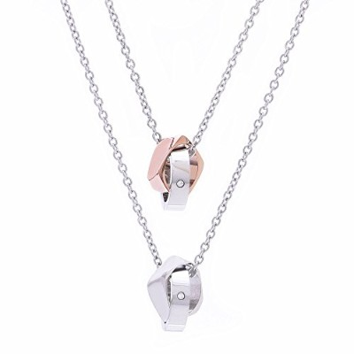 316Lステンレススチール ペアペンダント ペアネックレス カップル 男女ペア 316LStainless Steel Necklace For Couples Pendant TEST-0045 ...