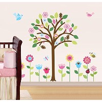 Pretty Pastel Garden Giant Peel & Stick Wall Art Sticker Decals by CherryCreek Decals