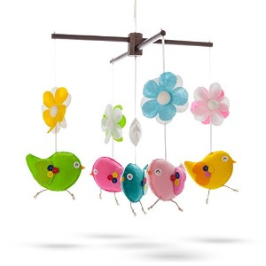 Marmelada Giggly Birds Mobile Flower Nursery Baby Room Bedtime Night Sleep D?cor by Marmelada