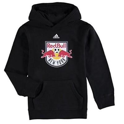 "アディダス キッズ adidas ""New York Red Bulls"" Youth Primary Logo Pullover Hoodie Black レッドブル パーカー サッカー..."