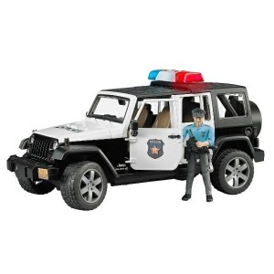 BRUDER JEEP パトカー(白人警官フィギュア付き)02526