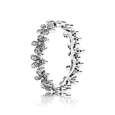 PANDORA Ringsパンドラリング眩しいデイジーグループ女性永遠結婚記念日-Daisy Silver Ring with Cubic Zirconia 190934CZ 54
