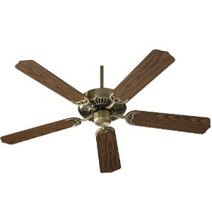 Quorum International 77425-4 Capri I 42-Inch Ceiling Fan, Antique Brass Finish with Reversible...