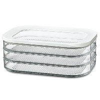 Rosti Mepal Modula 1.6L 3 Tier Meat Cuts Storage Box Airtight Lid Dishwasher Safe (Pack of 2) -...