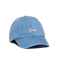 【GRIZZLY】グリズリー 2017秋冬 LATE TO THE GAME DAD HAT メンズ キャップ 帽子 スケートボード デニムブルー