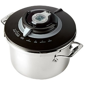 All-Clad PC8 Precision Stainless Steel Pressure Cooker Cookware, 8.4-Quart, Silver by All-Clad ...