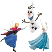 Hallmark Disney Frozen Elsa, Anna and Olaf Skating Set of Three Christmas Ornaments Skating [並行輸入品]