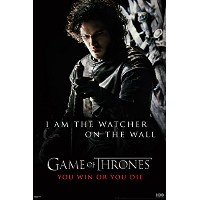 Game of Thrones Jon Snow Watcher EpicファンタジーアクションHBOテレビTelevision Show印刷ポスター24 by 36