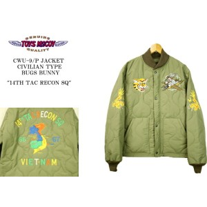 "TOYS McCOY PRODUCT トイズマッコイプロダクト CWU-9/P JACKET CIVILIAN TYPE BUGS BUNNY ""14TH TAC RECON SQ"" CWU-9/P..."