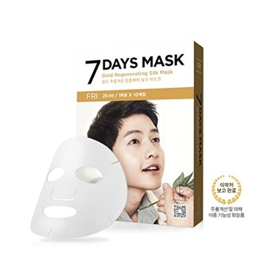 FORENCOS 7 Days Mask 10pcs ((#Friday : Gold Regenerating Silk Mask))