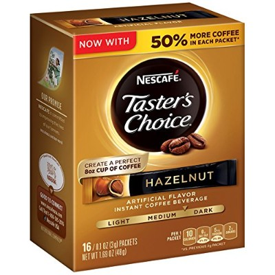 Nescafe Taster's Choice Instant Coffee Beverage, Hazelnut (Pack of 8) by Nescafテδゥ