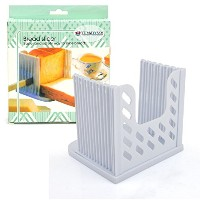 Bread Slicer Yummy Sam折り畳み可能、調整可能なBread ToastスライサBagel Slicer Loaf Sandwich Bread Slicerトーストスライスカッター...