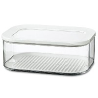 Rosti Mepal Modula 2L Rectangular Cheese Storage Box Airtight Lid (Pack of 4) - レシュティモジュラ2リットル長方形のチー...