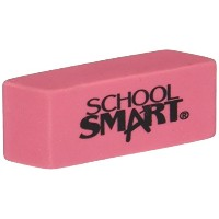 School Smart 077354 Beveled End Latex-Free Small Smudge-Free Eraser, Pink, Pack - 36