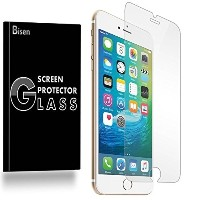 (iPhone 8 Plus 5.5 保護フィルム) iPhone 8 Plus 5.5 Tempered Glass Screen Protector [2-PACK BISEN]