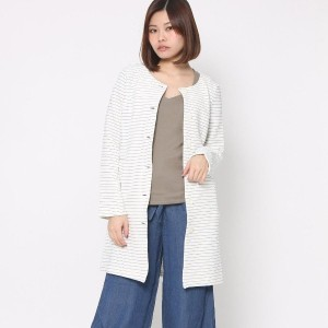 【SALE 80%OFF】スパイラルガール プロデュースド バイ ルーミィーズ SPIRAL GIRL produced by Roomy's OUTLET ノーカラーカットコート (ハイショク)