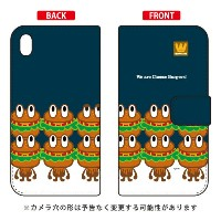 【送料無料】 手帳型ケース 「cheese burgers」 design by PansonWorks / for Xperia Z3 SOL26/au 【SECOND SKIN】au...