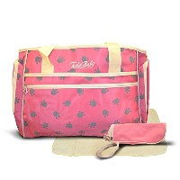 Official Todd Baby 3 Pc Paw Pink Diaper Nappy Changing Shoulder Bag Bottle Holder Set New by Todd...