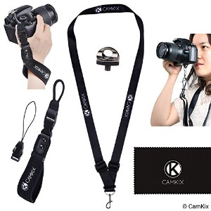 ネオプレン手首ストラップカメラ用 Wrist Strap & Neck Lanyard Bundle + Install screw D0488-CWS-NQB