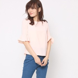 【SALE 78%OFF】ミーア プロデュースド バイ ルーミィーズ MIIA produced by Roomy's OUTLET シンプルベルスリーブトップス (ピンク)