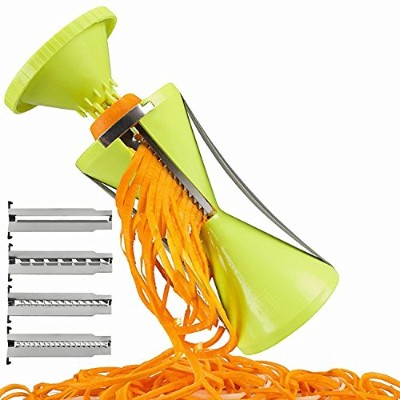 Newest 4 Blade Replaceable Vegetable Spiral Slicer Cutter Vegetable Spiralizer Grater Spiralizer...