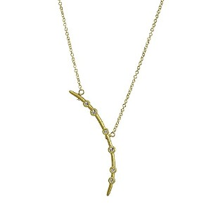 """Dogeared Bend the Rulesクリスタル円弧Gold Dipped Necklace 18"""" + 2"""" Extender"""