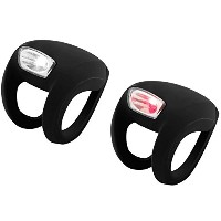 Knog Frog Strobe Bike light set black 2014 Front & Rear bike lights by Knog
