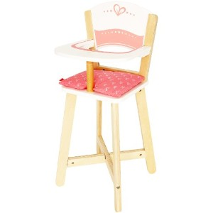 Hape Babydoll Highchair Toddler Wooden Doll Play Furniture