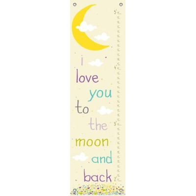 Oopsy Daisy Growth Charts Lunar Love Purple Finny and Zook, Yellow, 12 x 42 by Oopsy Daisy