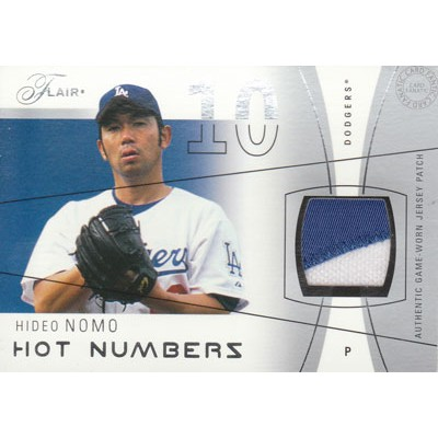 【野茂 英雄】 2004 Fleer Flair Hot Numbers Game Used Patch 16枚限定(04/16)/Hideo Nomo