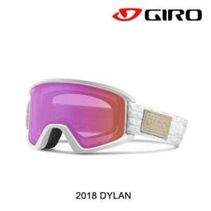 2018 GIRO ジロ ゴーグル WOMEN'S GOGGLE DYLAN AF WHITE QUILTED/AMBER PINK+YELLOW
