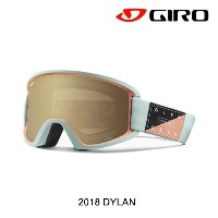 2018 GIRO ジロ ゴーグル WOMEN'S GOGGLE DYLAN AF MIST PISTE OUT/AMBER GOLD+YELLOW