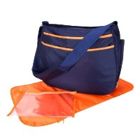 Trend Lab Ultimate Hobo Style Diaper Bag, Navy Blue and Orange by Trend Lab