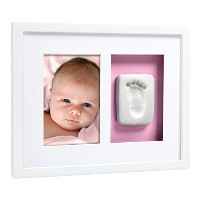 Pearhead Babyprints Handprint or Footprint Wall Frame, White by Pearhead