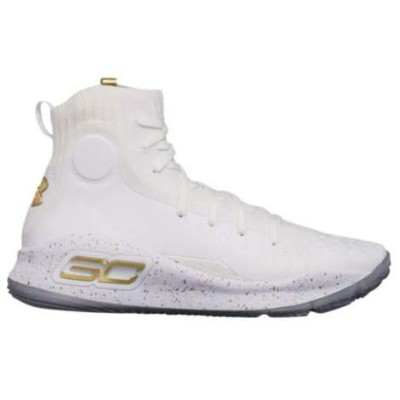 "アンダーアーマー メンズ シューズ Under Armour Curry 4 IV ""White and Gold""メンズ White/Metallic Gold バッシュ Stephen..."