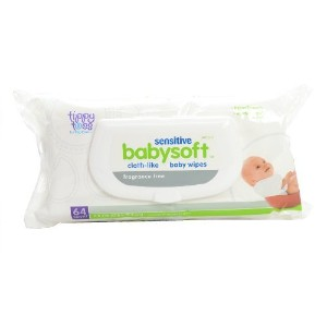 TopCare, Tippy Toes, Babysoft Baby Wipes, Sensitive, Fragrance Free -64 wipes by Top Care