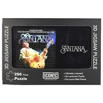 "Santana公式認定"" Guitar Heaven "" 256ピース3d Lenticular Jigsawパズルin official collector 's Tin"