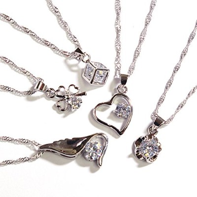One&Only Jewellery 【特選福袋】 豪華5点セット キュービックジルコニア ネックレス ペンダント K18GP (Cセット)