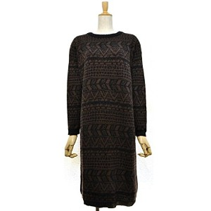 A HOPE HEMP(アホープヘンプ) H/C JACQUARD KNIT OP Color:BLACK  Size:F